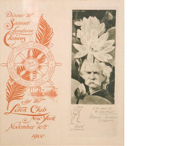 CLEMENS, SAMUEL LANGHORNE. 1835-1910.