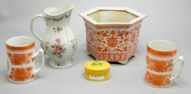 A group of Chinese export porcelain
