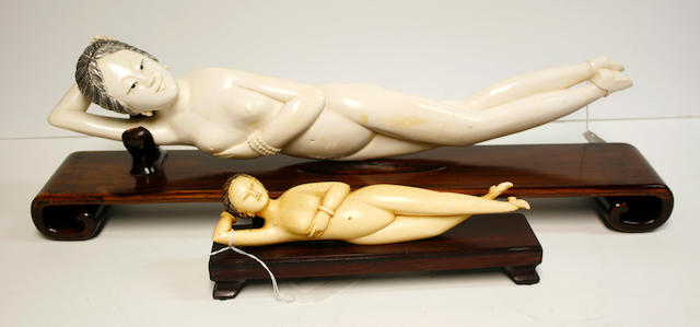 Two ivory doctor's models 20th Century