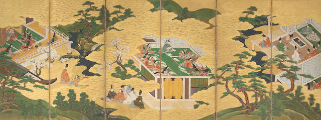 Anonymous (17th/18th Century) Scenes from the Tale of Genji