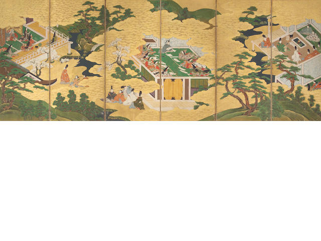 Anonymous (17th/118th Century): Scenes from the Tale of Genji