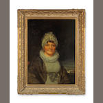 American school<br>oil on canvas<br>Portrait of a lady<br>early 19th century