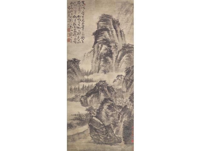 After Shitao (1641-1707) Ink landscape