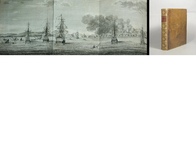 ANSON, GEORGE, BARON. 1697-1762. A Voyage Round the World, in the Years MDCCXL, I, II, III, IV. London: for the Author by John and Paul Knapton, 1748.