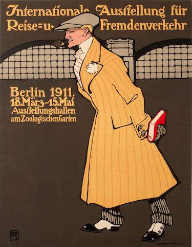 Hans Rudi Erdt (German, 1883-1918); Internationale Ausstellung für Reise u. Fremdenverkehr;