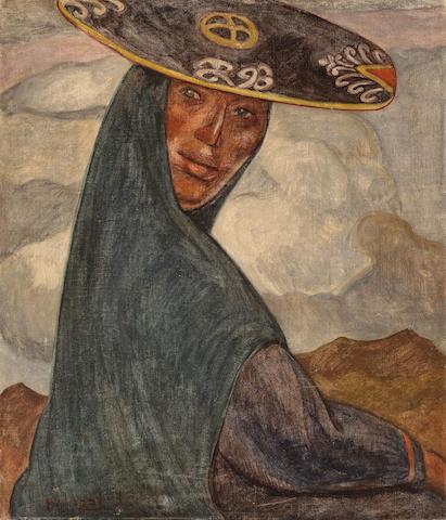 (n/a) Jose Sabogal (Peruvian, 1888-1956) India Quchua, 1935 27 1/2 x 23 3/4in (69.8 x 60.3cm)