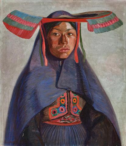 (n/a) Jose Sabogal (Peruvian, 1888-1956) India del Collao, 1925 27 3/4 x 23 3/4in (70.5 x 60.3cm)