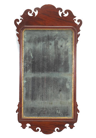 A Chippendale mahogany mirror labeled John Stansbury late 18th century
