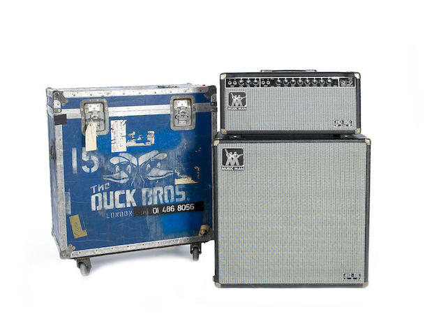 A 1981 Music Man HD-150 REVERB half-stack, AMP: Serial No. B012944, Chassis No. 2275-150, 3