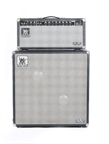 A 1983 Music Man HD-150 REVERB half-stack,  AMP: Serial No. B013153, Chassis No. 2275150CL, 3