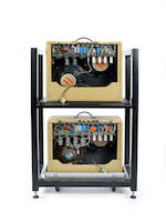 A pair of 1997 Fender Twin Amps, Serial Nos. ECT2 and 3, 3