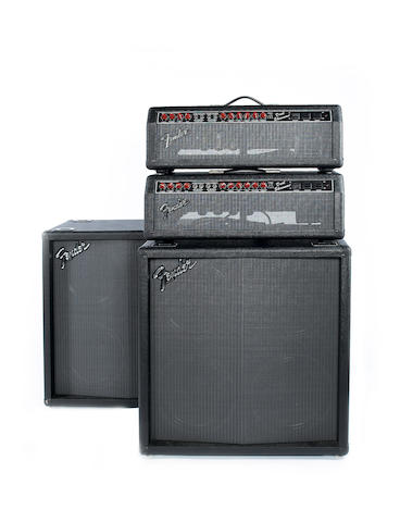 A pair of 1987 Fender Dual Showman with matching Fender speaker cabinets, Serial Numbers LO 80632 and LO 80610,7
