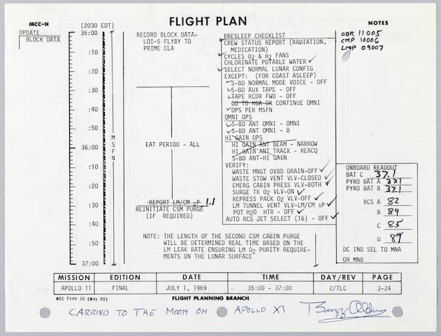 Flown A11 flight plan P3-23/24