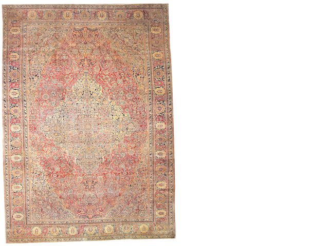 A Mohtasham Kashan carpet Central Persia, size approxiamtely 12ft. x 17ft.