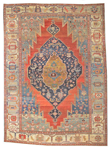 A Serapi carpet Northwest Persia, size appoximately 10ft. 8in. x 14ft. 8in.