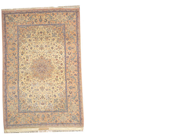An Isphahan rug Central Persia, size approximately 5ft. 1in. x 7ft. 9in.