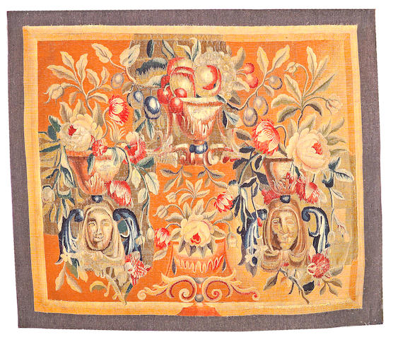 An Aubusson tapestry size approximately 1ft. 11in. x 2ft. 3in.