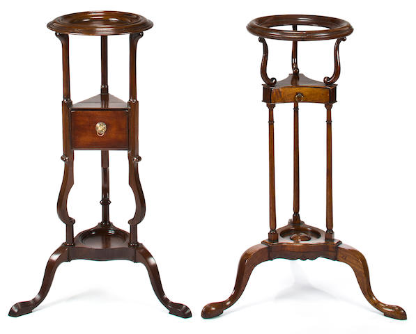 Two Georgian mahogany basin stands<br>late 18th century