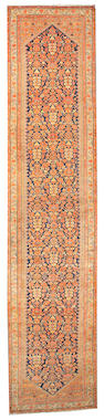 A Malayer runner Central Persia, size approximately 4ft. 4in. x 19ft. 2in.