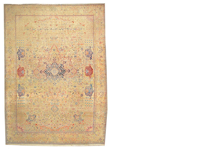 A Mohtasham Kashan carpet Central Persia, size approximately 10ft. 1in. x 13ft.