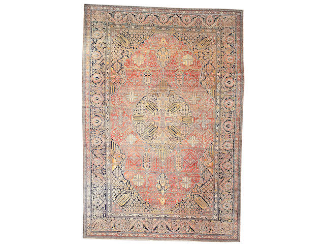 A Mohtasham Kashan carpet Central Persia, size approximately 11ft. 4in. x 18ft.