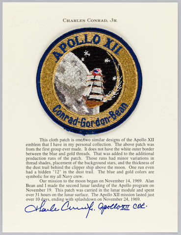 "CONRAD'S APOLLO 12 ""ALL NAVY"" CREW EMBLEM."