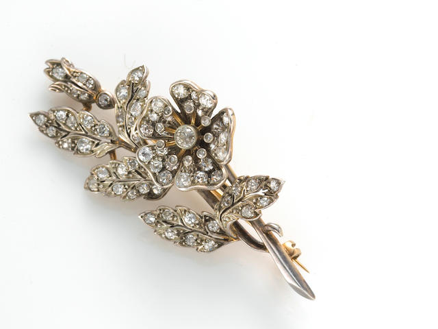 a diamond en tremblant brooch w box