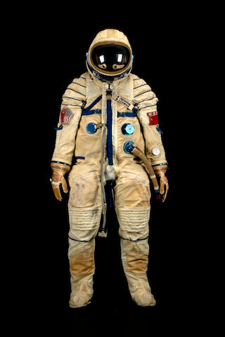 ALEXEI LEONOV'S FLOWN SPACE SUIT FROM ASTP.