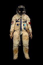 "Alexei Leonov's ""Sokol K"" Apollo-Soyuz Test Project flown spacesuit, 1975"
