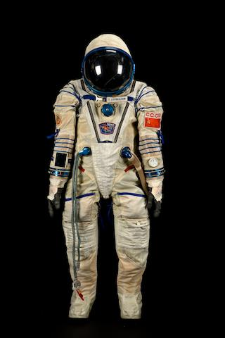 STREKALOV'S FLOWN SOYUZ TM-10 SPACE SUIT.