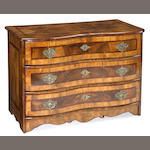 A South German Baroque inlaid walnut commode<br>first half 18th century