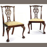 A set of twelve George III style mahogany side chairs