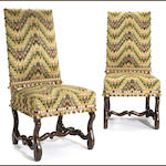 A pair of Louis XIV walnut chairs