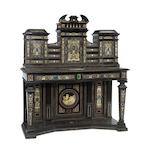 A good Italian Baroque style hardstone, semipreciouse stone, bone and ivory mounted cabinet<br>mid 19th century,