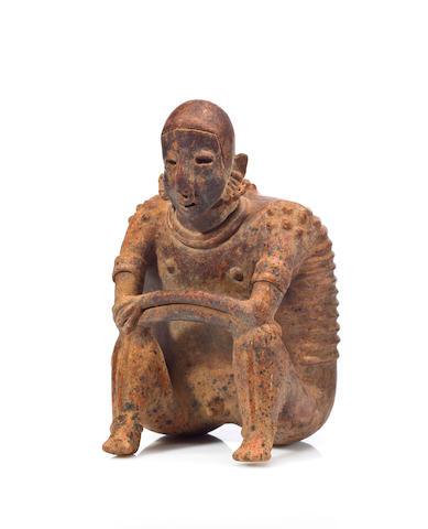 Jalisco Seated Male Figure,<br>Protoclassic, ca. 100 B.C. - A.D. 250