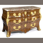 A Regence gilt bronze mounted parquetry commode<br>first quarter 18th century
