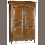 A Louis XV oak armoire<br>second half 18th century