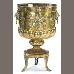 A Dutch or French Neoclassical brass jardinière<br>first half 19th century