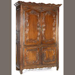 A Louis XV fruitwood armoire de lin<br>second half 18th century