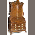 A Continental Baroque figured walnut secretary<br>probably Dutch<br>early 18th century