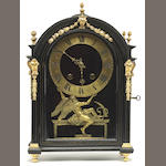 A Louis XIV gilt bronze mounted ebonized bracket clock<br>Isaac Thouret, Paris<br>early 18th century