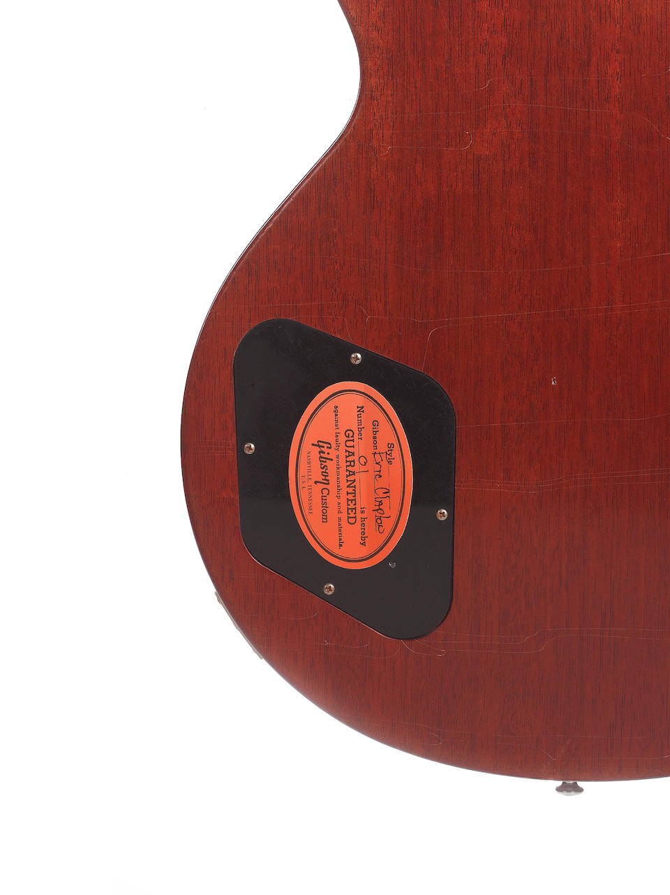 A 2010 Gibson Les Paul Standard Eric Clapton 'Beano' Tribute Model, Serial no. 01,