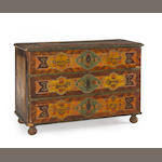 A Continental painted chest