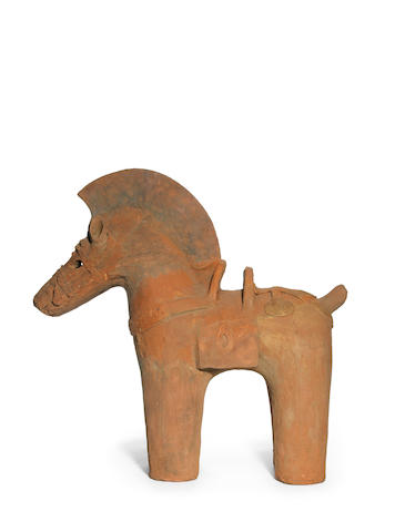 A haniwa red pottery figure of a horse Kofun Period, 6th century
