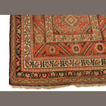 A Hamadan rug, size approximately 8ft 3in X 3ft 9i