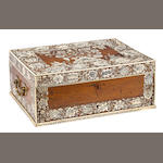 An Anglo Indian engraved ivory inlaid rosewood dressing box<br>Vizagapatam<br>late 18th century