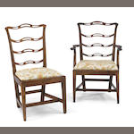 A set of seven George III mahogany chairs<br>third quarter 18th century