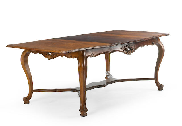 A Portuguese Rococo style rosewood suite of dining furnitrue  first quarter 20th century