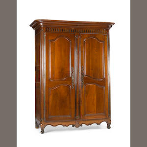A Louis XV walnut armoire. third quarter 18th century