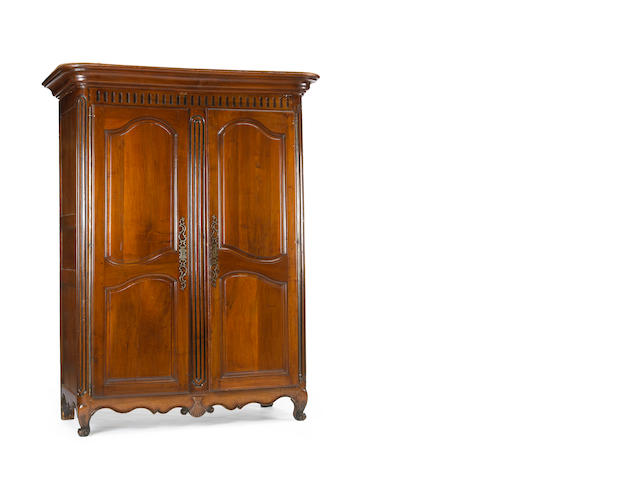 A Louis XV walnut armoire<br>third quarter 18th century